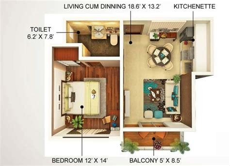 750 sq ft apartment home concept crafts pvt ltd noida up