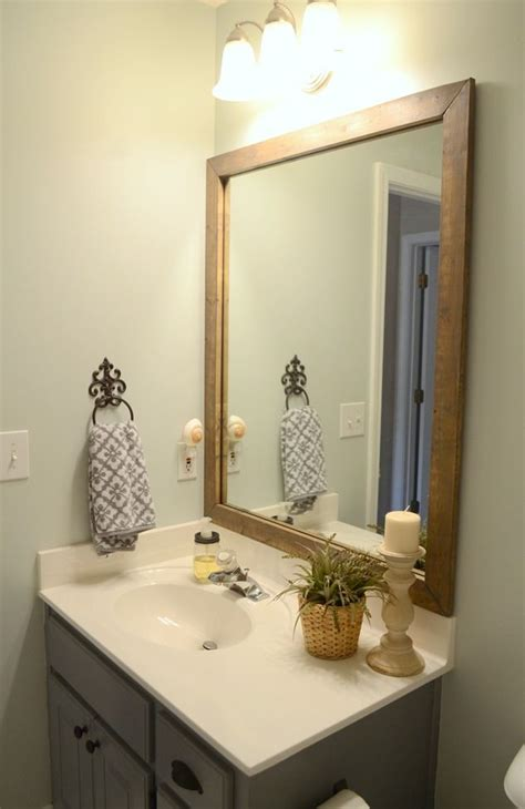 wooden frame bathroom mirror nepinetwork org