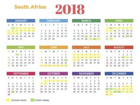 2018 holidays south africa calendar 2018 south