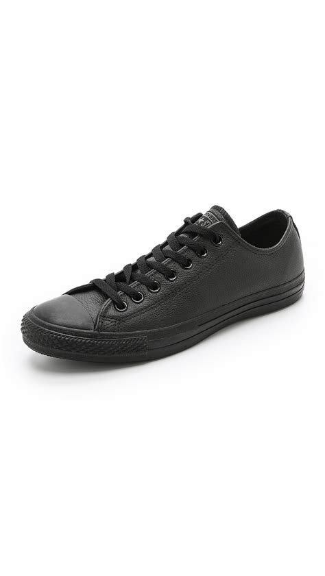 chuck leather sneakers converse chuck all leather sneakers in black