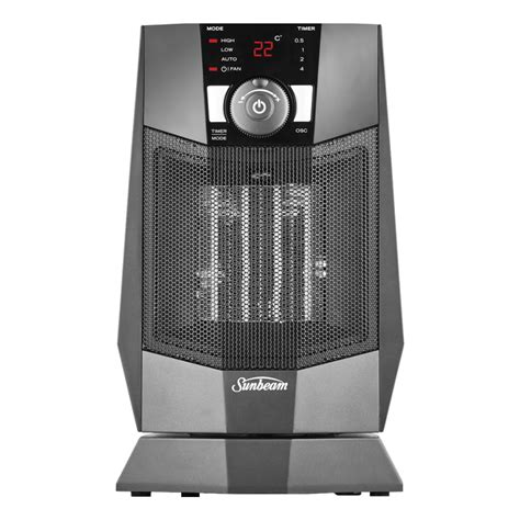 kenmore oscillating compact fan heater sunbeam he2125 compact oscillating electric ceramic fan