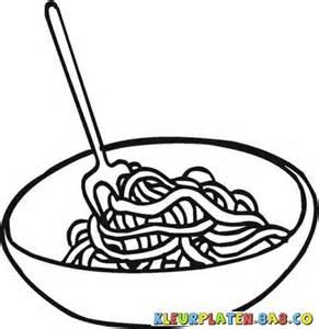 kleurplaten spaghetti lunch schilderen tekenen en