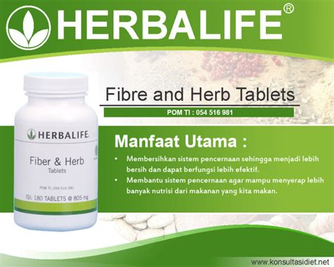 Herbalife Suplemen Makanan Harga Fiber Herbalife Manfaat Fungsi Kandungan Cara