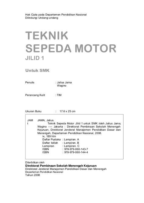 Manajemen Jilid 1 E 13 teknik sepeda motor jilid 1