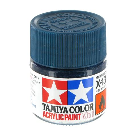 Tamiya Enamel X13 Metallic Blue tamiya colour acrylic paint x 13 metallic blue 10ml hobbycraft