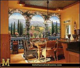 Tuscan Wall Mural Decorating Theme Bedrooms Maries Manor Tuscany Vineyard