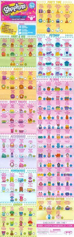 printable shopkins shopping list shopkins season 1 collectors guide checklist party