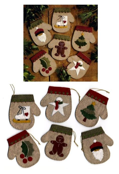 patterns for christmas ornaments of felt free simple felt ornament patterns ornaments kit pattern