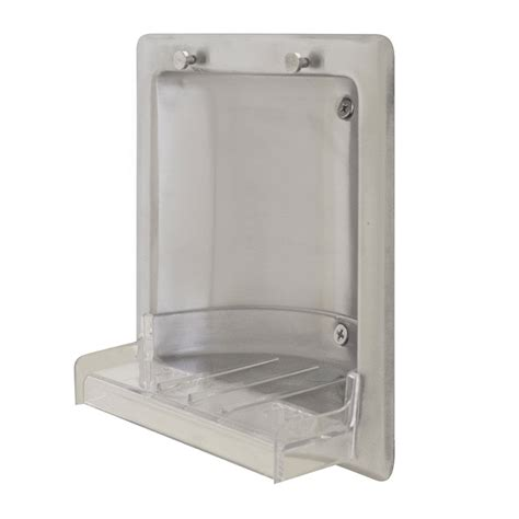 Stainless Steel Soap Dish recessed stainless steel soap dish satin finish unoclean