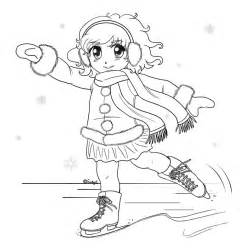 free ice skating s coloring pages