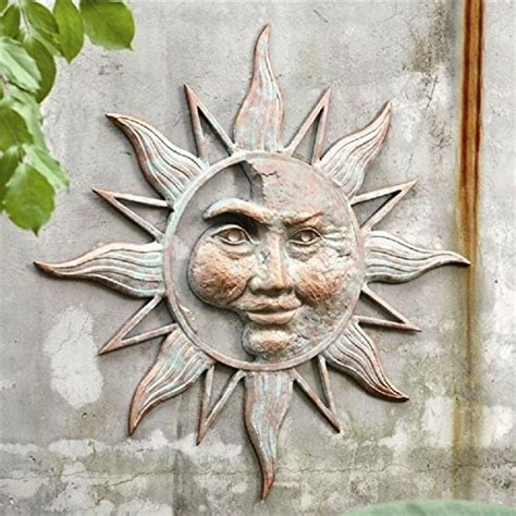 Garden Sun Faces Gorgeous Metal Sun Plaques And Sun Faces For Your Wall
