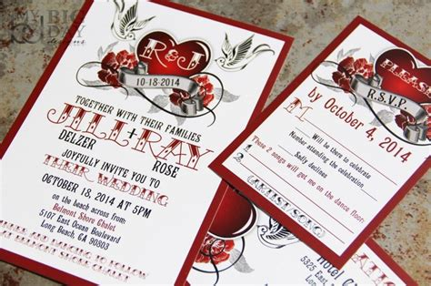 Steunk Card Template by Impressive Rockabilly Wedding Invitations Theruntime