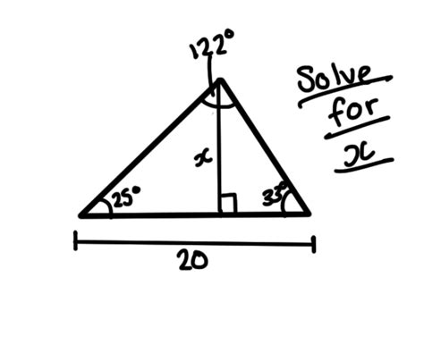How Do You Find Trigonometry How Do You Find The Height Of A Triangle Given 3 Angles And The Base