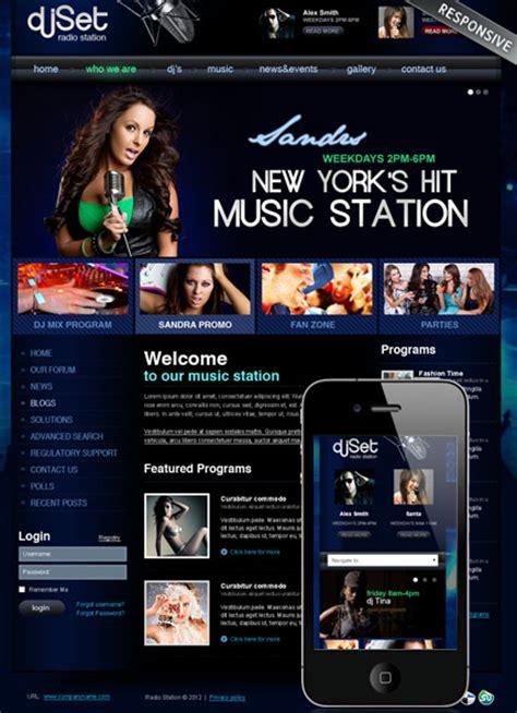 Radio Station V3 Joomla Theme Best Website Templates Free Radio Station Website Templates