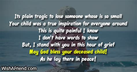 words of comfort after death of a child sympathy messages for loss of child
