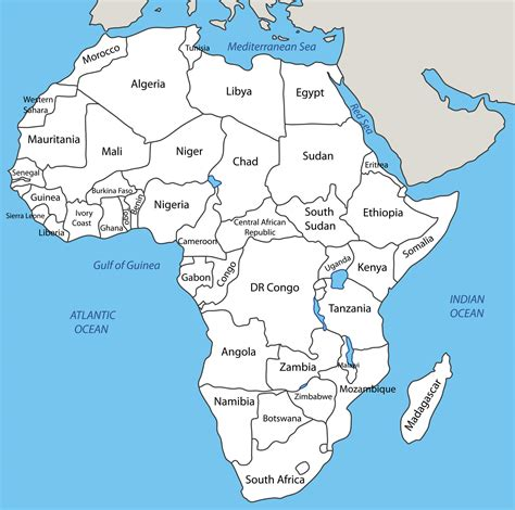 In Africa by Africa Map Blank Political Africa Map With Cities