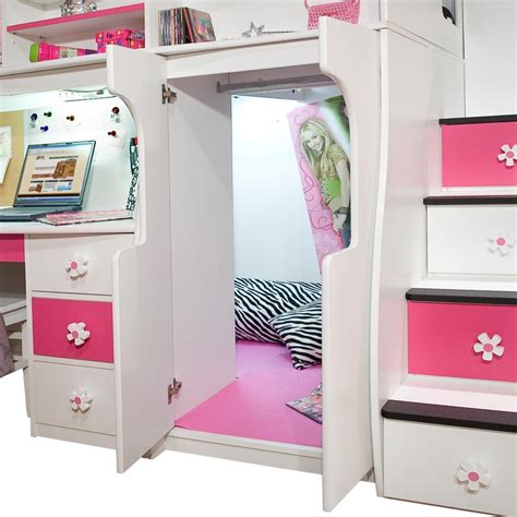 play desk for bunk beds with stairs and desk for