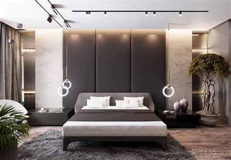 Mains Powered Bedroom Lights Contemporary House Design With Indoor Plants Display And