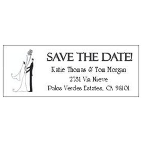 Save The Date Couple Design Return Address Label Save The Date Address Label Template