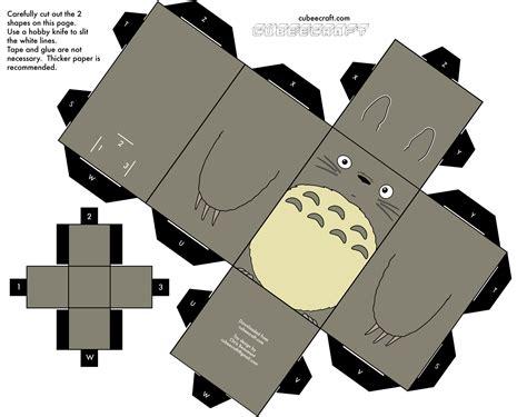 Ghibli Papercraft - cubeecrafts de anime totoro papercraft and hayao miyazaki