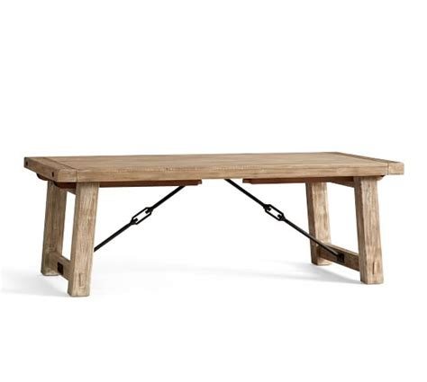 Benchwright Dining Table Benchwright Extending Dining Table Seadrift Pottery Barn