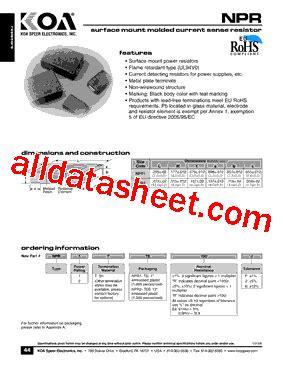 koa resistor part number koa resistor part number 28 images sr732ettd1r00 datasheet pdf koa speer electronics inc wf