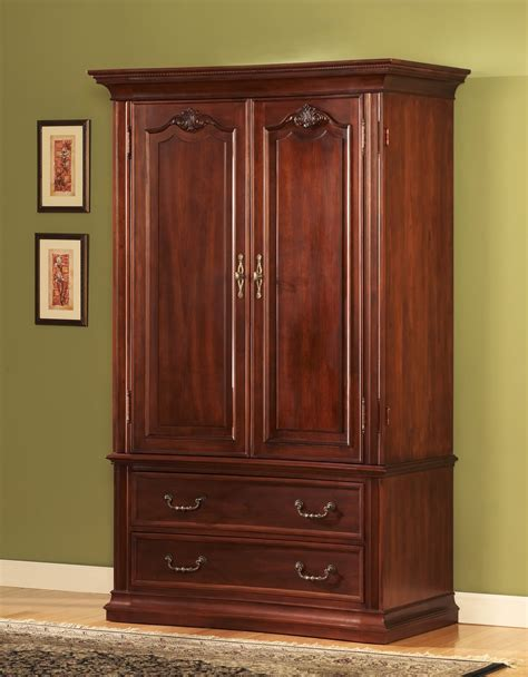 Bedroom Armoire Closet With Best Wardrobe Armoire With Soft Brown Wall Design And