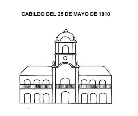 que dia cobro de mayo la pensin dibujo del cabildo de 1810 para colorear o pintar