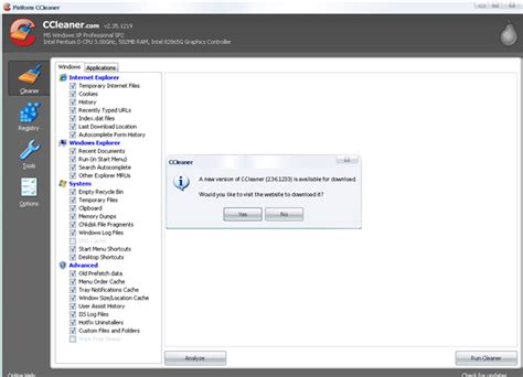 ccleaner last version set ccleaner to notify you when new version is available