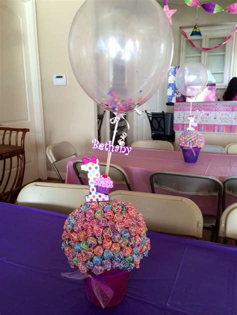birthday table decorations centerpieces 1st birthday cupcake theme centerpieces diy projects i ve done