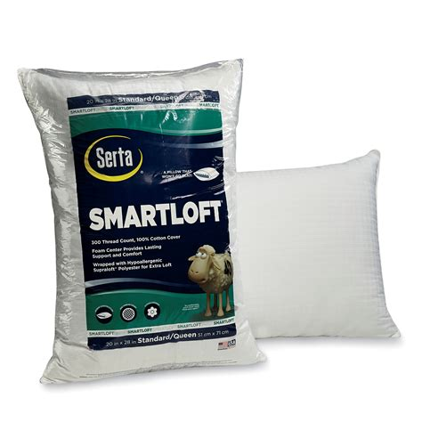 serta bed pillows serta smartloft hypoallergenic pillow sears