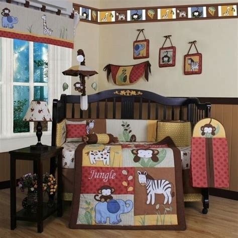 safari nursery bedding sets new 13pcs jungle animals safari crib bedding set sheet nursery baby boy ebay