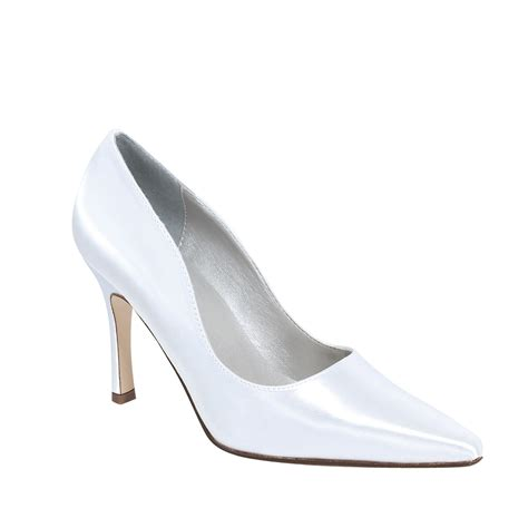Dyeable Shoes by Dyeables Debutante White 3 1 2 Quot Heel Dyeable Shoe Store