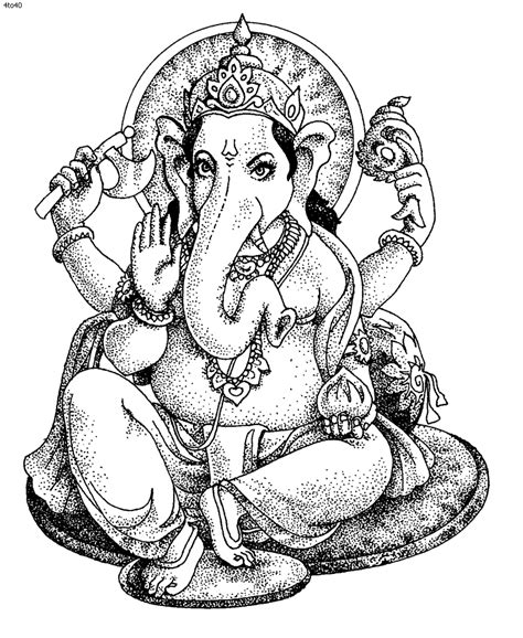 Ganesh Picture For Colouring Clipart Best Ganesha Coloring Pages