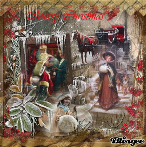 images of vintage christmas scenes a vintage christmas scene picture 103295838 blingee com