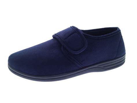 slippers size 14 mens slippers black grey navy velour velvet soft heel wide