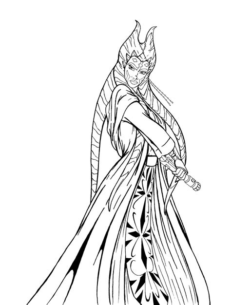 Ahsoka Coloring Pages Download And Print For Free Ahsoka Coloring Pages