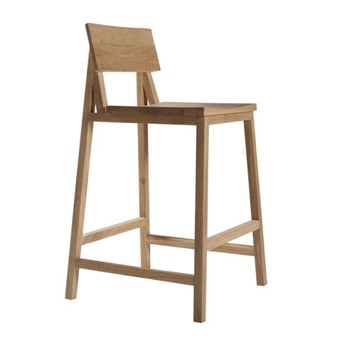 Wooden Bar Stool With Back Diy Brown Wood Bar Stool With Back And Wicker Pattern Homes Showcase