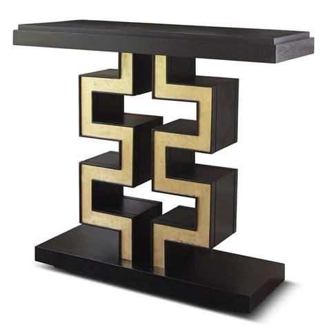 black gold table l maze regency black gold leaf console table