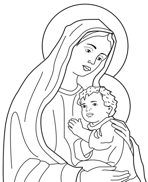 printable coloring pages holy family holy family to print or for free