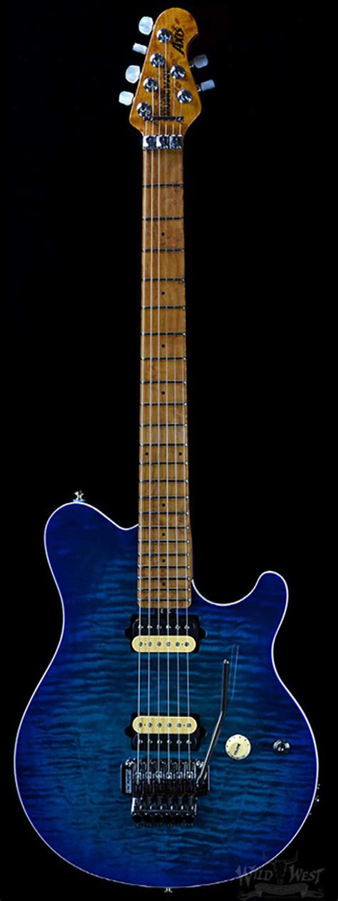 Gitar Musicman Axis Abu 1 ernie axis pdn premier dealer network neptune blue west guitars