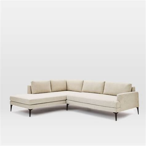 west elm andes sofa andes terminal chaise sectional stone twill west elm