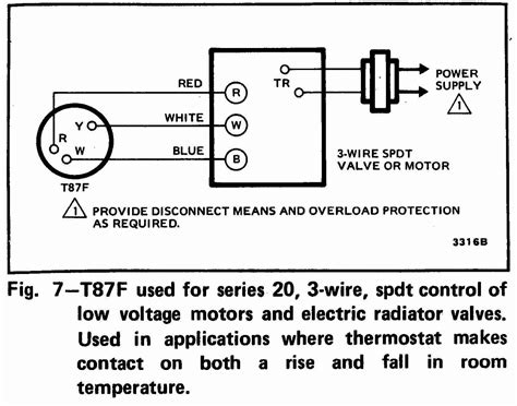 honeywell thermostat wiring diagram 3 wire wiring