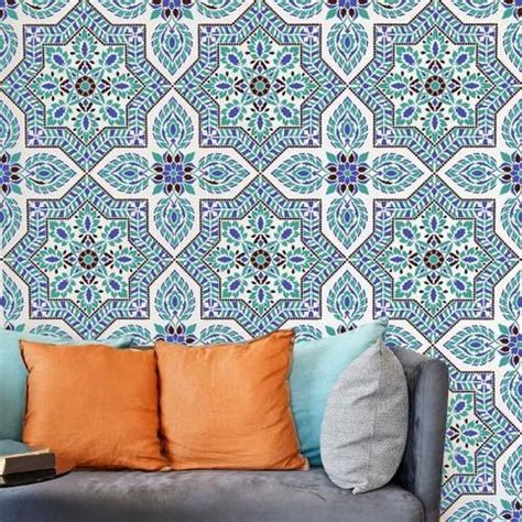 sleeping pattern in spanish tile stencil alhambra allover better than wallpaper