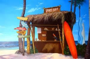 Smart dental surf shack custom painted murals by utah mural artist