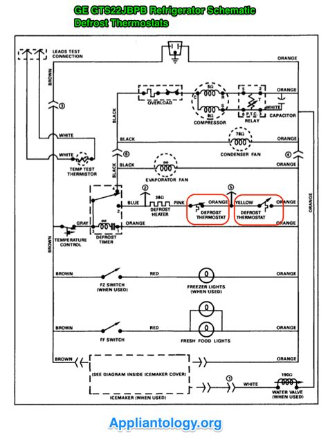 ge gts22jbpb refrigerator schematic the appliantology