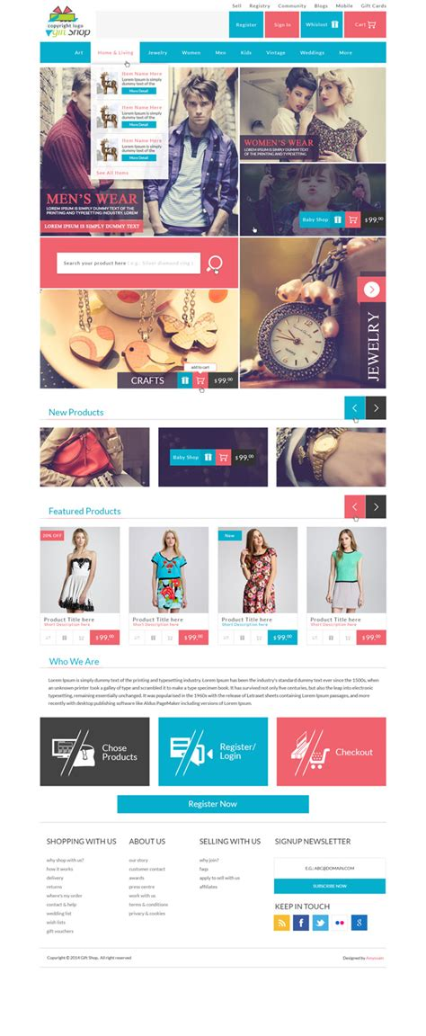 design free ecommerce website 120 free psd website templates