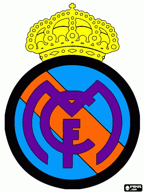 free coloring pages of real real madrid logo
