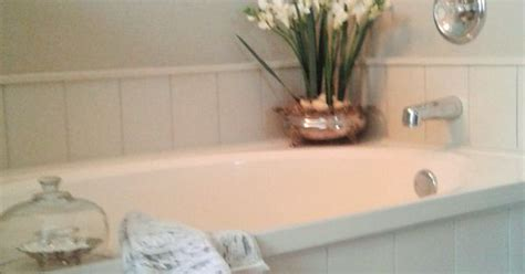 shiplap tub surround diy tub surround using peel and stick vinyl planks to