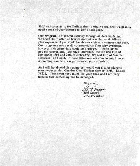 Invitation Letter King S College Letter Of Invitation To Dr Martin Luther King Jr Smu
